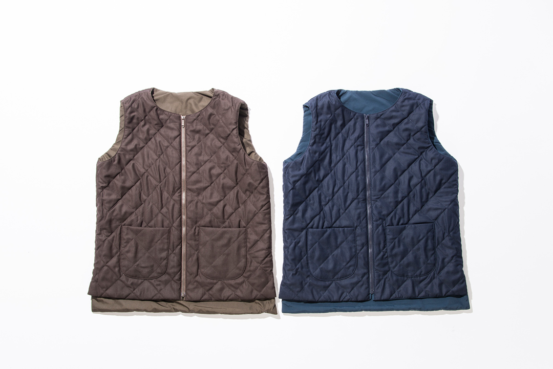 "kelen / Down/Feather Gilet""Lino Wool"""