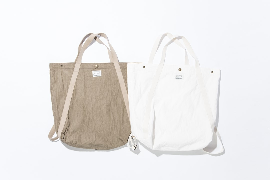 kha:ki /2WAY TOTE BAG SOLID,CAMO