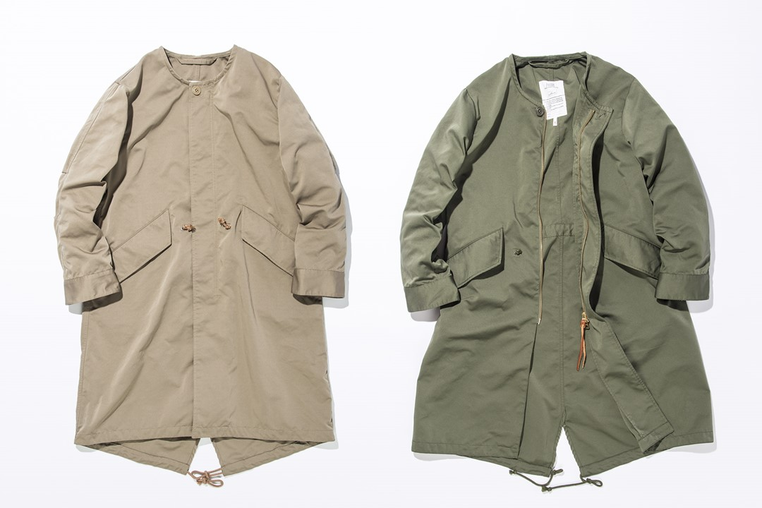kha:ki/NO COLLAR FIELD COAT