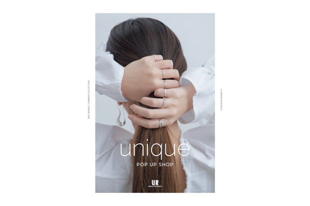 unique/POP UP SHOPのお知らせ 2019.05.31.fri.-6/9.sun.